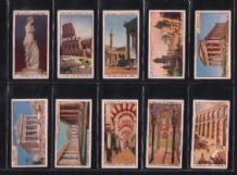 Tobacco cigarette cards set Wonders of the Past 1926